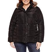 St. John`s Bay Puffer Jacket-Plus