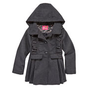 Pink Platinum Girls Midweight Peacoat-Toddler