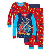 Boys Long Sleeve Ninjaga Kids Pajama Set-Big Kid