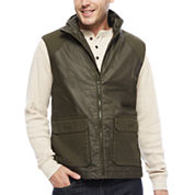 St. John's Bay® Flannel-Lined Canvas Vest
