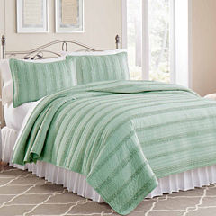 Waves Ruffle Quilt Set