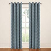 Eclipse Tipton Trellis Grommet-Top Curtain Panel