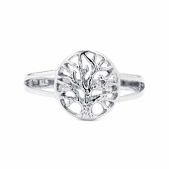 Silver Treasures Womens Sterling Silver Cocktail Ring