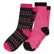 Cuddl Duds 2Pk Fair Crew Socks