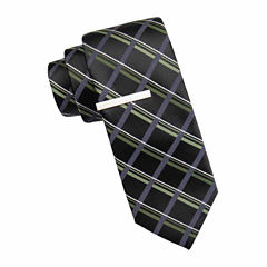 JF J. Ferrar® Atlantic Avenue Grid Tie and Tie Bar Set
