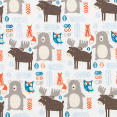 Trend Lab Scandi Forrest Flannel  Crib Sheet