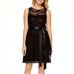 Simply Liliana Sleeveless Lace Fit-and-Flare Dress