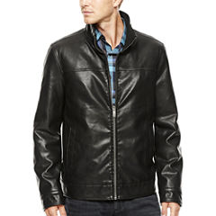 Dockers® Faux-Leather Banded-Bottom Coat