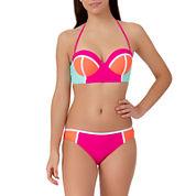 Arizona Colorblock Midkini Swim Top or Hipster Swim Bottoms