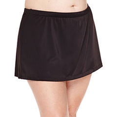 Azul by Maxine of Hollywood Solid Swim Skirt-Plus