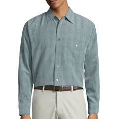 Haggar Button-Front Shirt