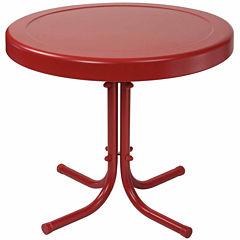 Retro Metal Patio Side Table