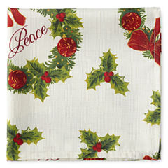 Arlee Holiday Wreath 4-pc. Napkins