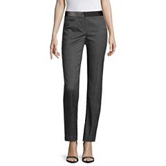 Worthington® Faux Leather-Trim Ankle Pants