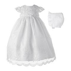 Keepsake® Christening Dress and Hat - Girls newborn-12m