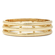 Monet® Gold-Tone Textured Stretch Bracelet