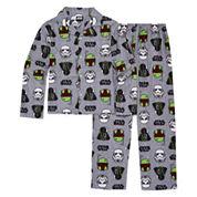 Starwars Coat Front Pajama Set- Boys 4-10