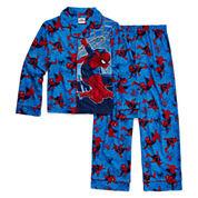 Marvel Spiderman Coat Front Pajama Set- Boys 4-10