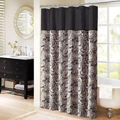 Madison Park Wellington Jacquard Shower Curtain