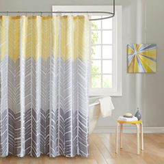 Intelligent Design Kennedy Microfiber Shower Curtain