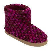Dearfoams® Popcorn-Knit Bootie Slippers