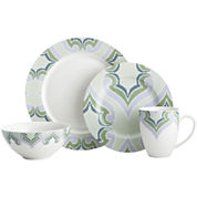 Oneida® Amber Green 16-pc. Dinnerware Set