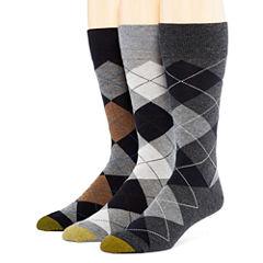 Gold Toe® Mens 3-pk. Dress Crew Socks