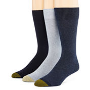 Gold Toe® Mens 3-pk. Dress Crew Socks