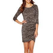 BELLE + SKY™ 3/4-Sleeve Knit Dress