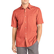 Arrow® Short-Sleeve Crosshatch Woven Shirt