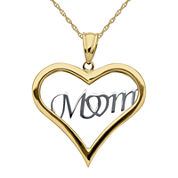 Infinite Gold™ 14K Two-Tone Gold Mom Pendant Necklace