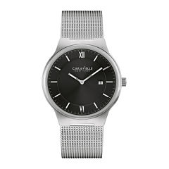 Caravelle New York® Mens Stainless Steel Mesh Watch 43B145