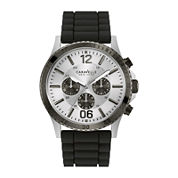 Caravelle New York® Mens Black Silicone Strap Watch 45A126