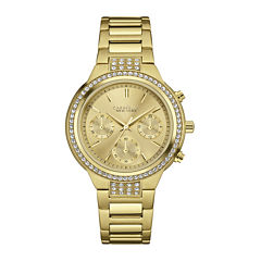 Caravelle New York® Womens Crystal-Accent Chronograph Bracelet Watch 44L179