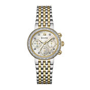 Bulova® Diamonds Maiden Lane Womens Diamond-Accent Two-Tone Watch 98R214