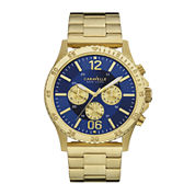 Caravelle New York® Mens Gold-Tone Stainless Steel Chronograph Watch 44A106