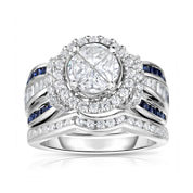 Harmony Eternally in Love 1¾ CT. T.W. White and Color-Enhanced Blue Diamond Ring