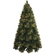 7' Pre-Lit Glitter-Tipped Golden Pine Christmas Tree