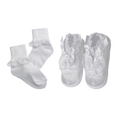 Keepsake® Christening Socks and Shoes Set - Girls