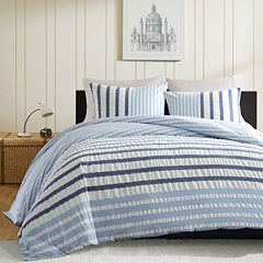 INK+IVY Bryant Blue Striped Duvet Cover Set