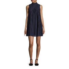 Hint of Mint Sleeveless A-Line Dress-Juniors