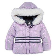 S Rothschild Girls Midweight Puffer Jacket-Toddler