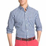 IZOD® Long-Sleeve Strech Plaid Button-Front Shirt