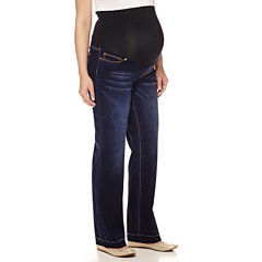 Maternity Raw Edge Overbelly Wide-Leg Pants