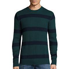 St. John's Bay® Long-Sleeve Striped Sweater
