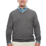 IZOD® Fieldhouse Long-Sleeve V-Neck Sweater - Big & Tall