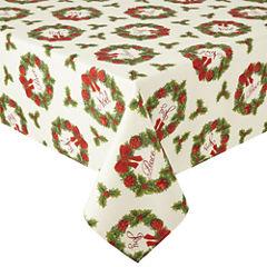 Arlee Holiday Wreath Sparkle Tablecloth