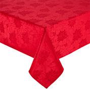 North Pole Trading Co Poinsettia Damask Tablecloth