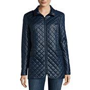 Liz Claiborne® Short Quilted Coat