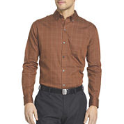 Van Heusen® Long-Sleeve No Iron Button Front Shirt